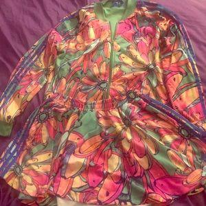 Adidas tracket jacket and skirt